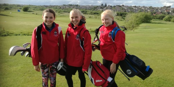 junior school girls at golf competition